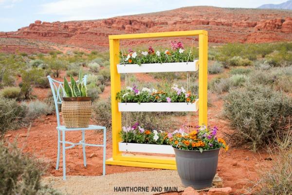 DIY Flower Planter made from Gutters