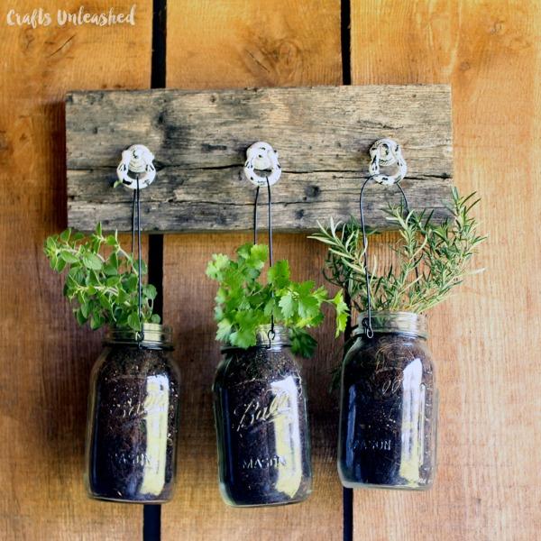 Hanging Jar Herb Garden