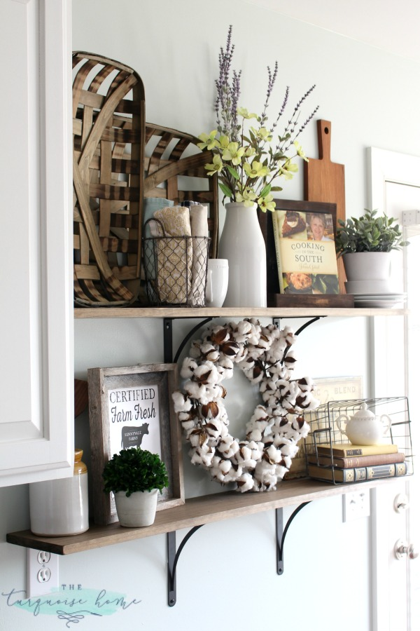 Kitchen Shelves Decorating Ideas: Decorating Shelves In A Farmhouse Kitchen
