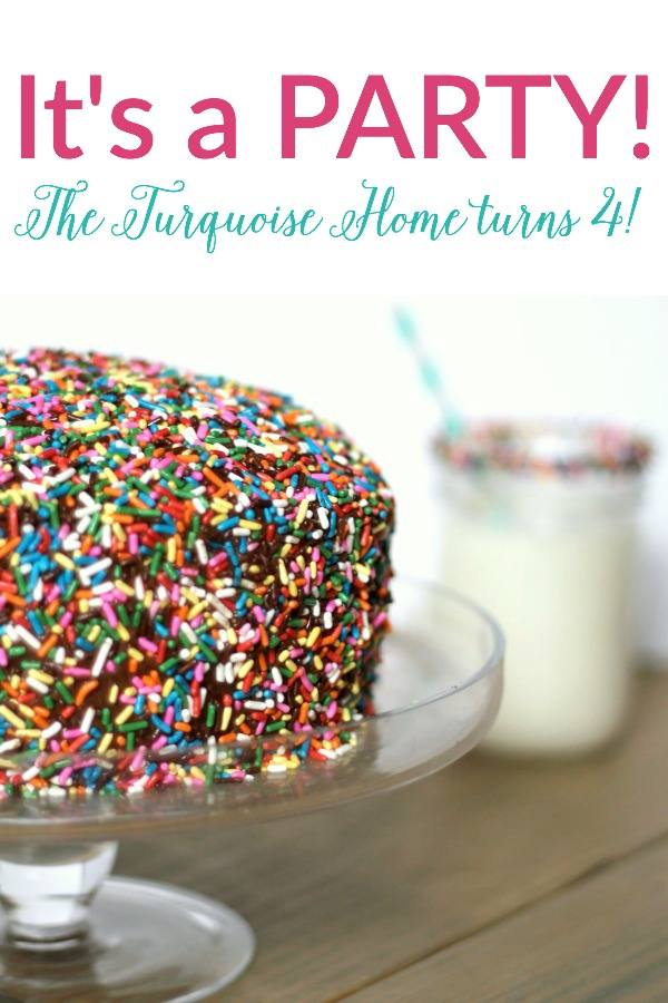 The Turquoise Home turns 4!! and a Target gift card giveaway!