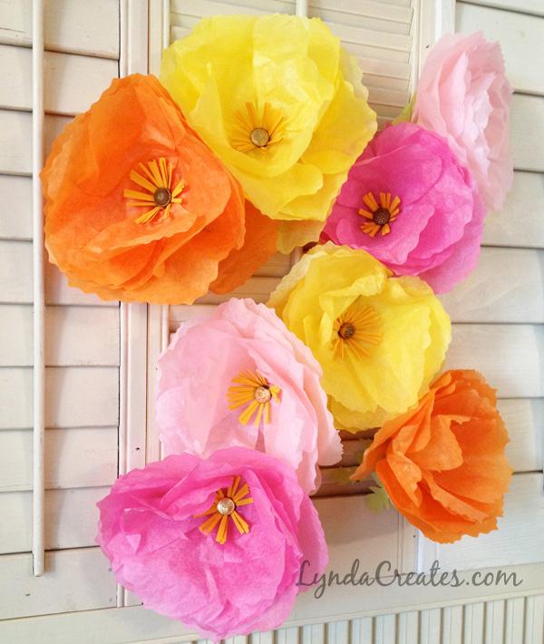 DIY Tissue Paper Iceland Poppies