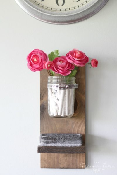 Wow! This is so cute and so easy!! DIY Chalk and Eraser Holder for a Chalkboard   DIY Tutorial   TheTurquoiseHome.com