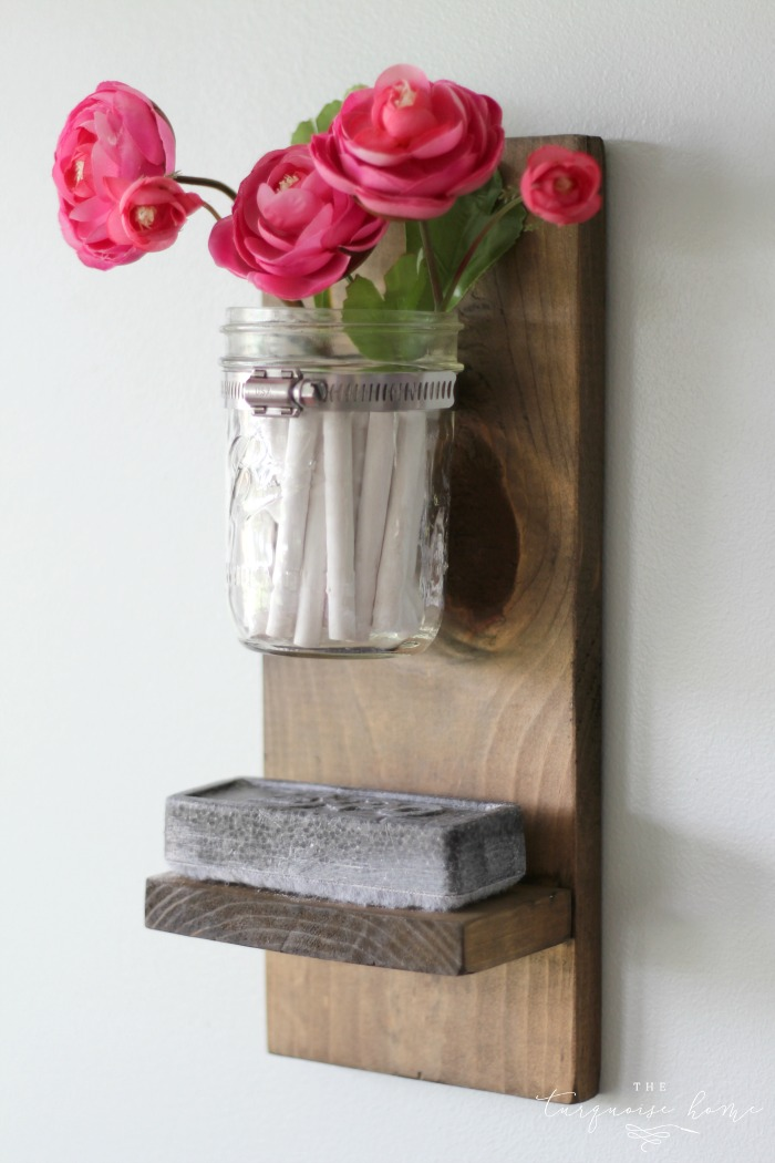 Wow! This is so cute and so easy!! DIY Chalk and Eraser Holder for a Chalkboard | DIY Tutorial | TheTurquoiseHome.com