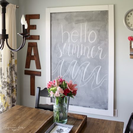 How to Make a Giant Magnetic Chalkboard