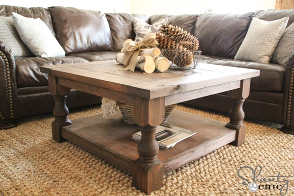 DIY Square Coffee Table | 10 Amazing Kreg Jig Projects