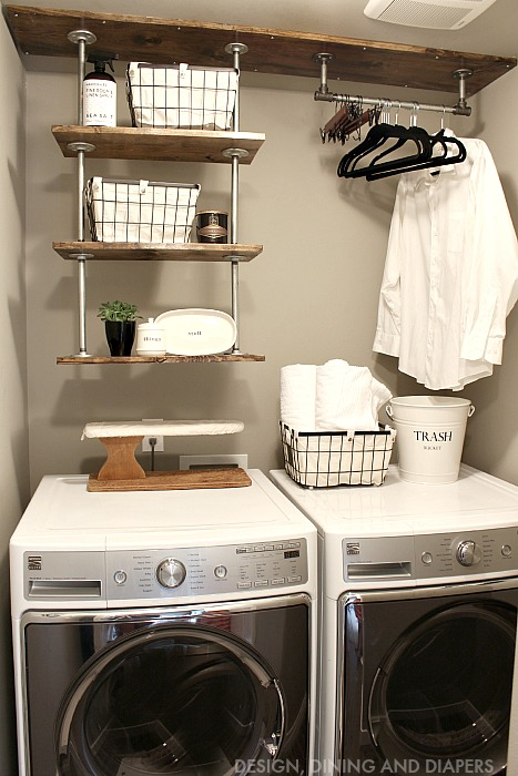 Small-Laundry-Room-Organization-Industrial-Shelving