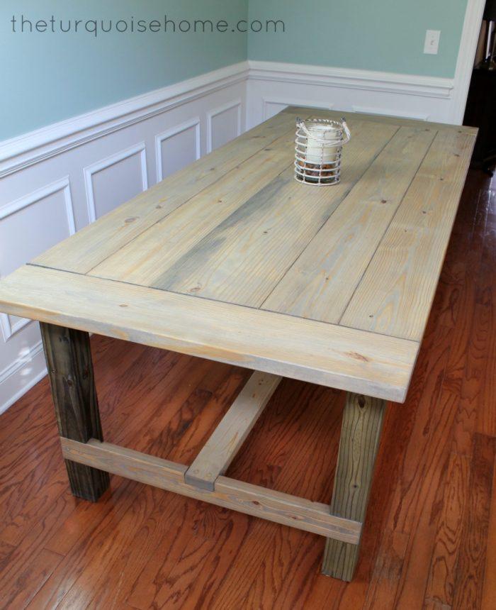 10 kreg jig projects you will love amazingly easy diy farmhouse table for less than 100 dollars 10 amazing kreg jig projects solutioingenieria Choice Image