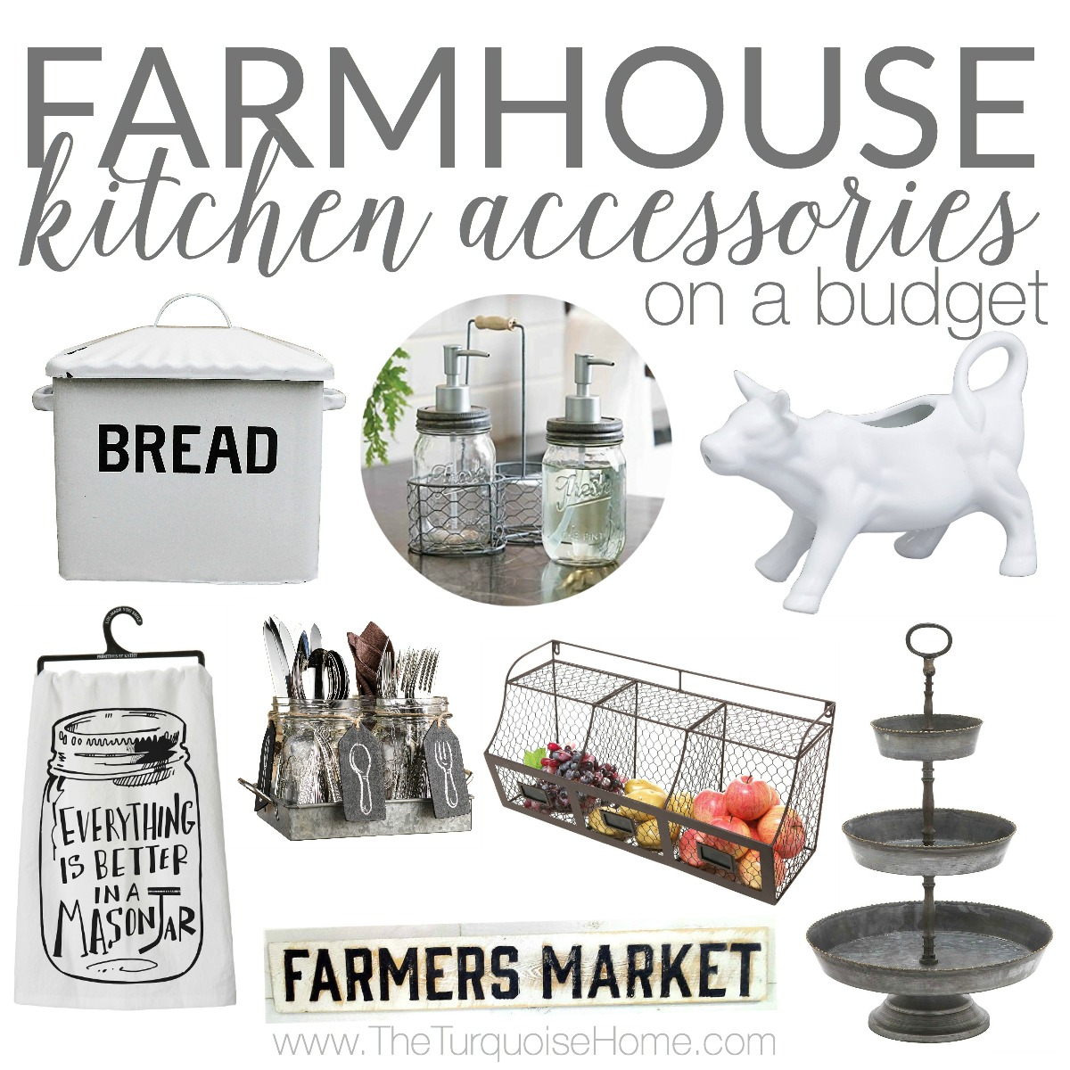 Farmhouse Kitchen Accessories on a Budget