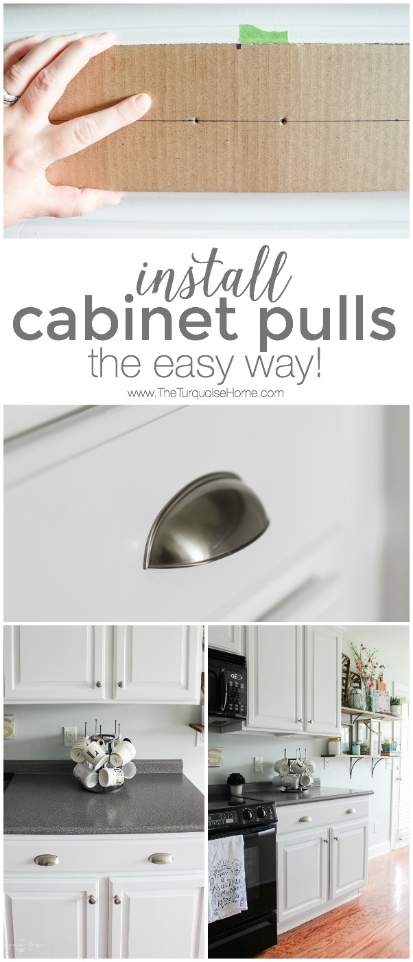 Installing Cabinet Hardware Can Be Intimidating This Simple Trick Makes New Cabinets Pulls So