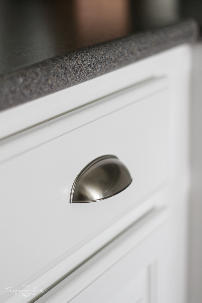 installing kitchen cabinet pulls sea salt vs palladian blue choose paint colors without 4740