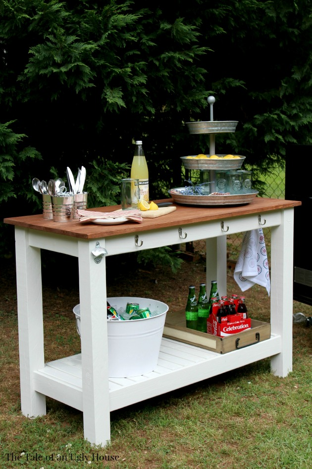 Pottery Barn Inspired DIY Outdoor Buffet | 10 Amazing Kreg Jig Projects