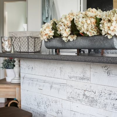 Weathered Reclaimed Wood Kitchen Bar