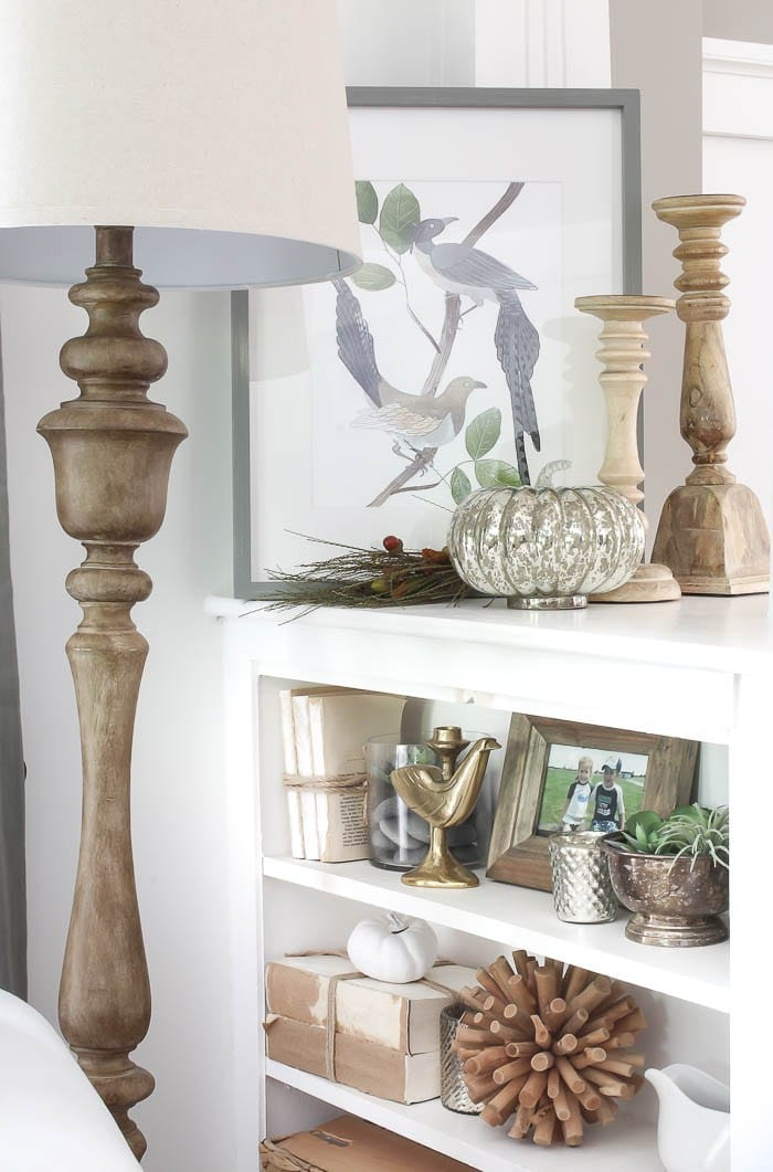 Gorgeous Fall Vignette with mercury glass from Rooms for Rent Blog | 11 Ways to Add Fall to Your Home