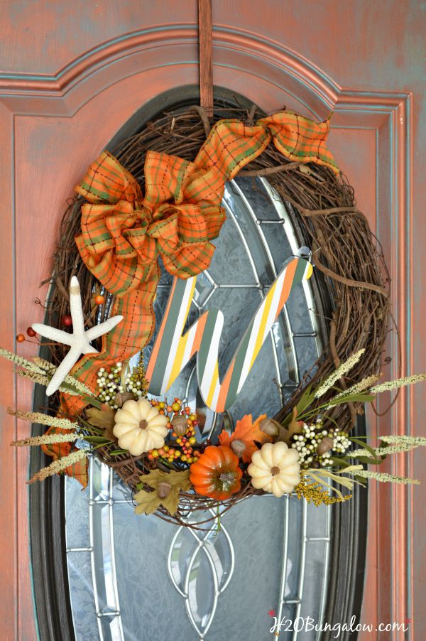 DIY Coastal Fall Wreath