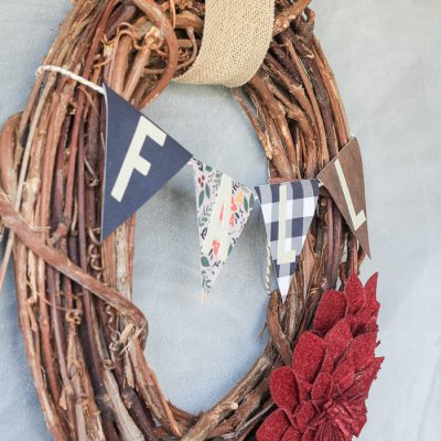 DIY Target Dollar Spot Fall Wreath