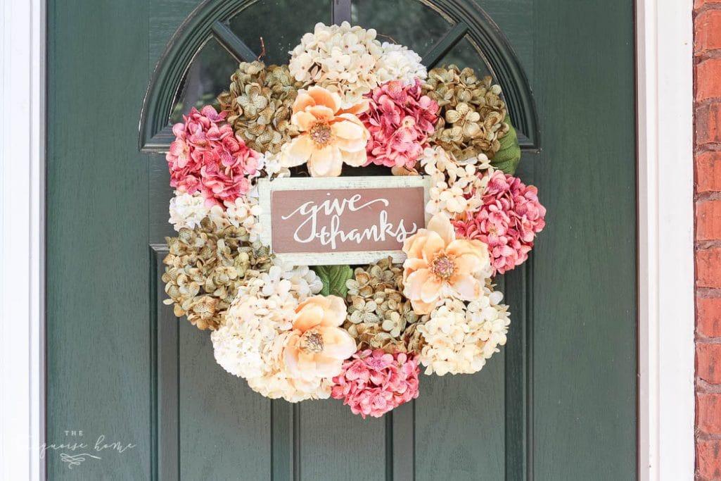 Diy Fall Wreaths Part - 29: Love This DIY Faux Hydrangea Fall Wreath!