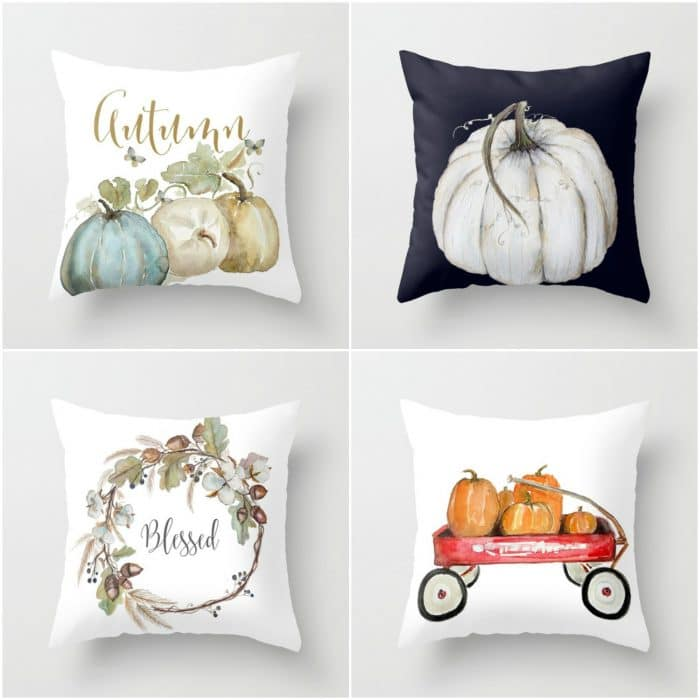Gorgeous fall pillows from Crafberry Bush. Click here for more fall decor inspiration! | 11 Ways to Add Fall to Your Home