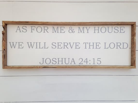 As for Me and My House Wood Sign | Top 15 Gifts for the Inspirational Wall Art Lover
