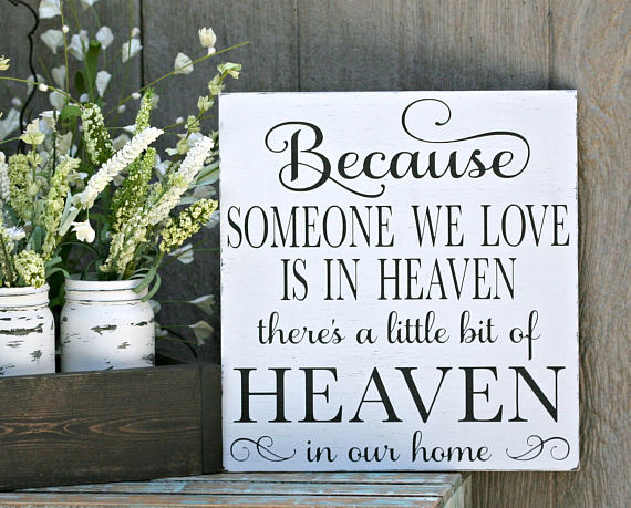 Someone we Love in Heaven: Inspirational Wall art gift guide