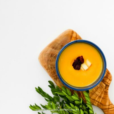 The combination of savory and sweet is to die for! Butternut Squash Soup Recipe | TheTurquoiseHome.com