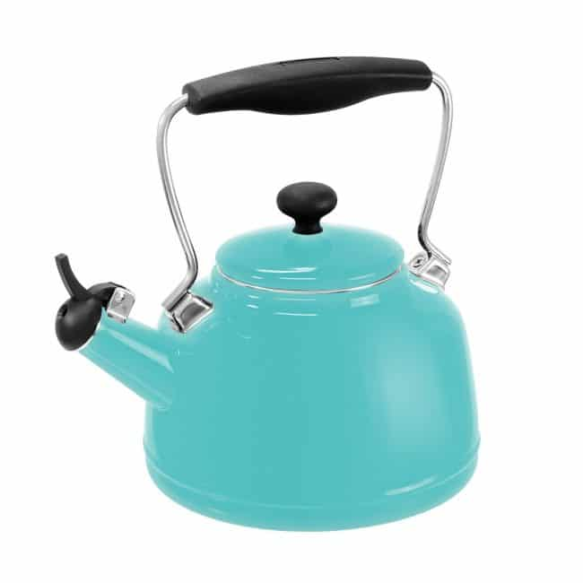 Chantal Vintage Aqua Steel-Enamel Tea Kettle | Top 15 Kitchen Gifts for the Turquoise Lover