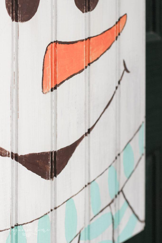 DIY Rustic Snowman Door Hanger #dihworkshop & DIY Rustic Snowman Door Hanger | The Turquoise Home