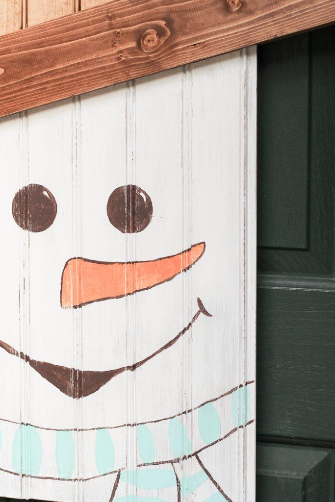 DIY Rustic Snowman Door Hanger #dihworkshop