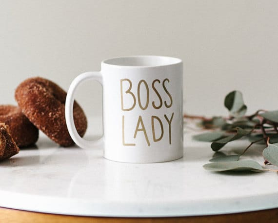 Boss Lady mug! Top 15 Work-at-Home Mom gift ideas!!