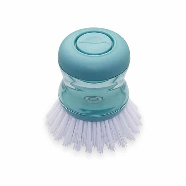 Function and pretty turquoise soap brush would make washing dishes so much more pleasant! | Top 15 Kitchen Gifts for the Turquoise Lover