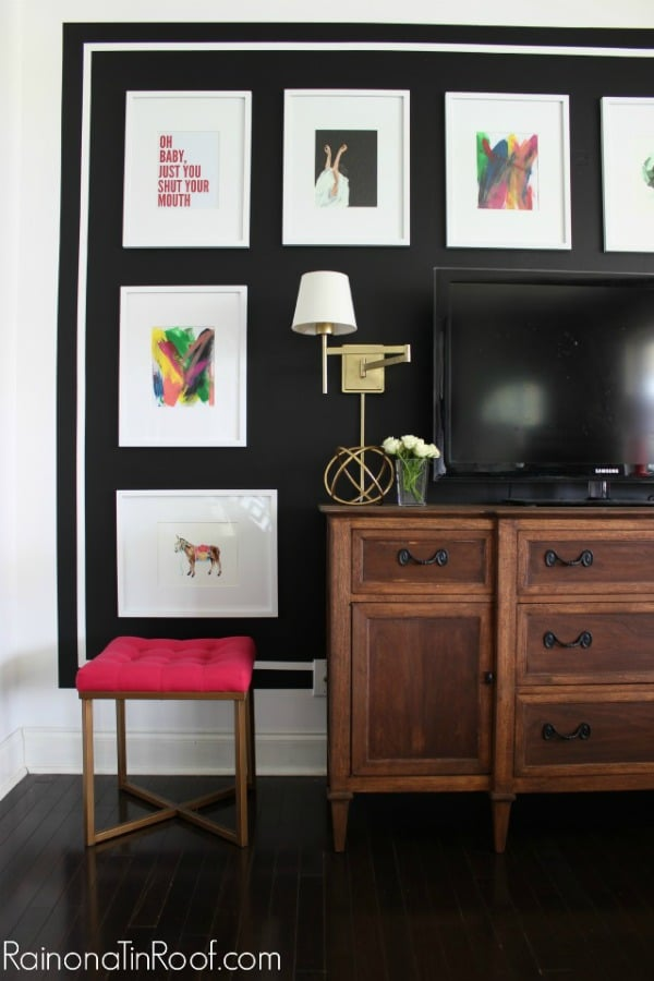 Large Frames on Gallery Wall | 5 Simple Gallery Wall Ideas