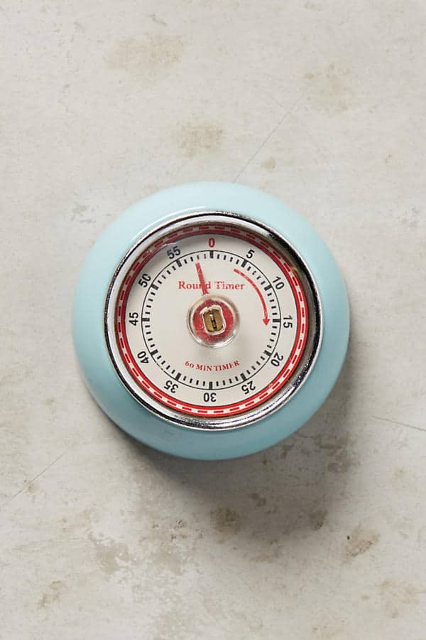 Keep time in the kitchen with this adorable, retro kitchen timer! | Top 15 Kitchen Gifts for the Turquoise Lover