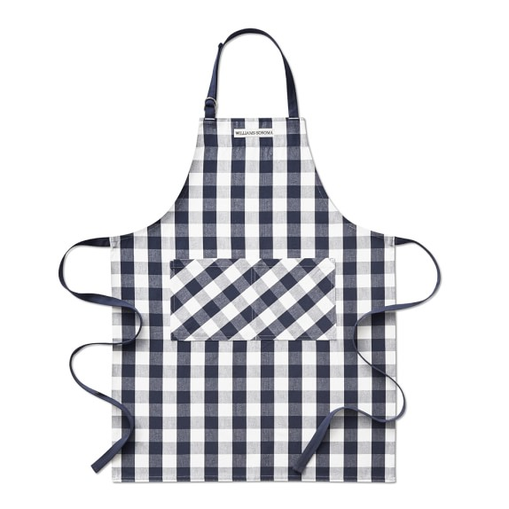 Navy Gingham Apron | Gift Ideas for the Cook