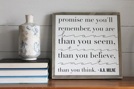 Promise Me You'll Remember | Top 15 Gifts for the Inspirational Wall Art Lover