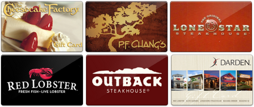 Restaurant gift cards! Top 15 Work-at-Home Mom gift ideas!!