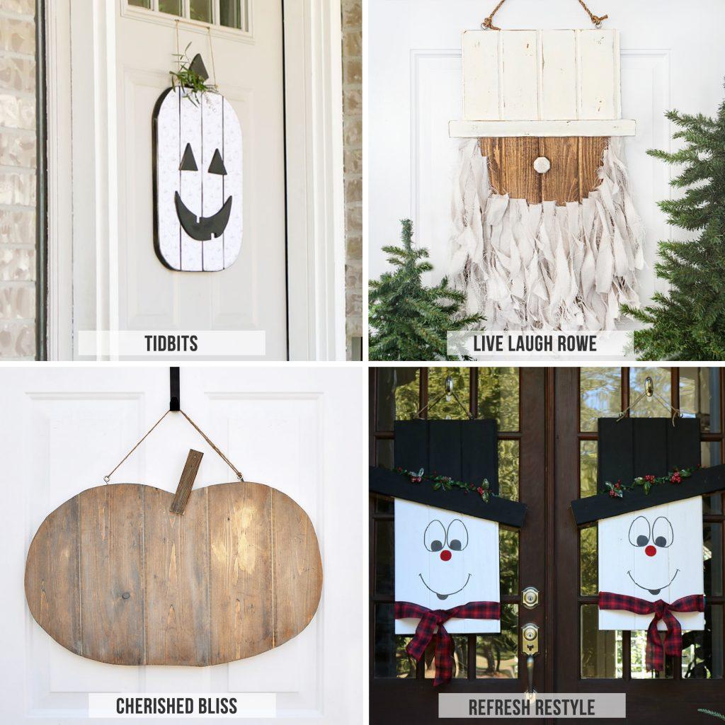 DIY Seasonal Door Hangers - tons of inspiration!!