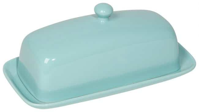 The cutest turquoise butter dish ever!! | Top 15 Kitchen Gifts for the Turquoise Lover
