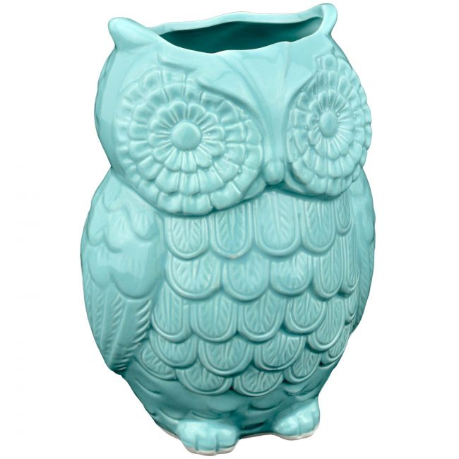 Cutest turquoise owl utensil holder you ever did see! | Top 15 Kitchen Gifts for the Turquoise Lover