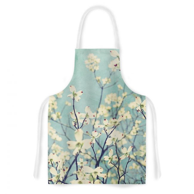Turquoise Dogwood Kitchen Apron - the perfect gift for a cook who loves turquoise!! | Top 15 Kitchen Gifts for the Turquoise Lover