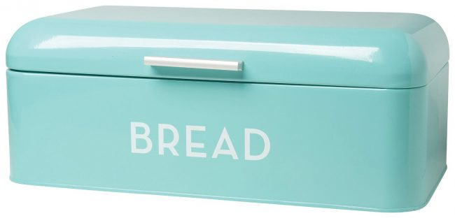 Your bread will never go stale - and ALWAYS look super cute in this turquoise retro bread bin! | Top 15 Kitchen Gifts for the Turquoise Lover