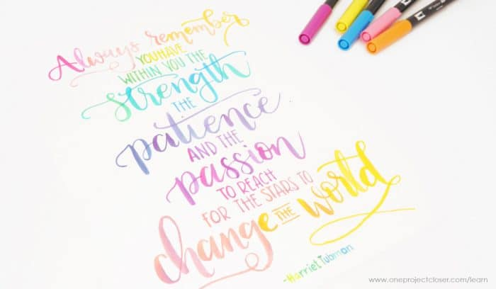 The Busy Girl's Guide to Handlettering makes a wonderful gift that won't clutter up her home!