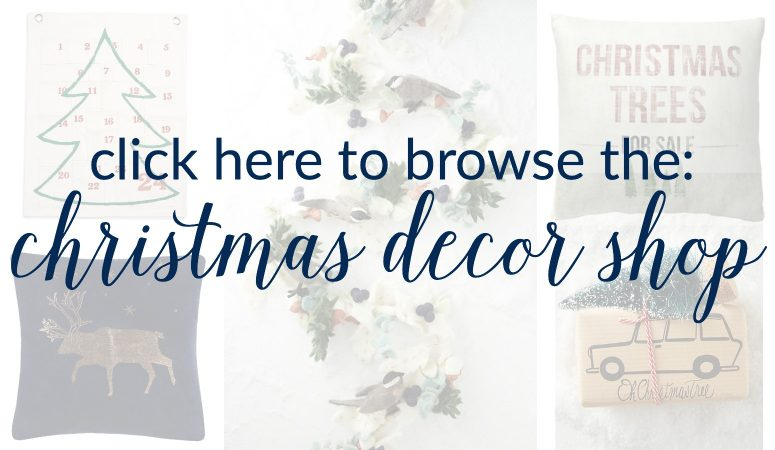 Click here to shop The Turquoise Home's Christmas Decor Shop!