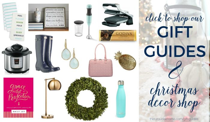 Shop The Turquoise Home's Gift Guide and Christmas Decor Shop!