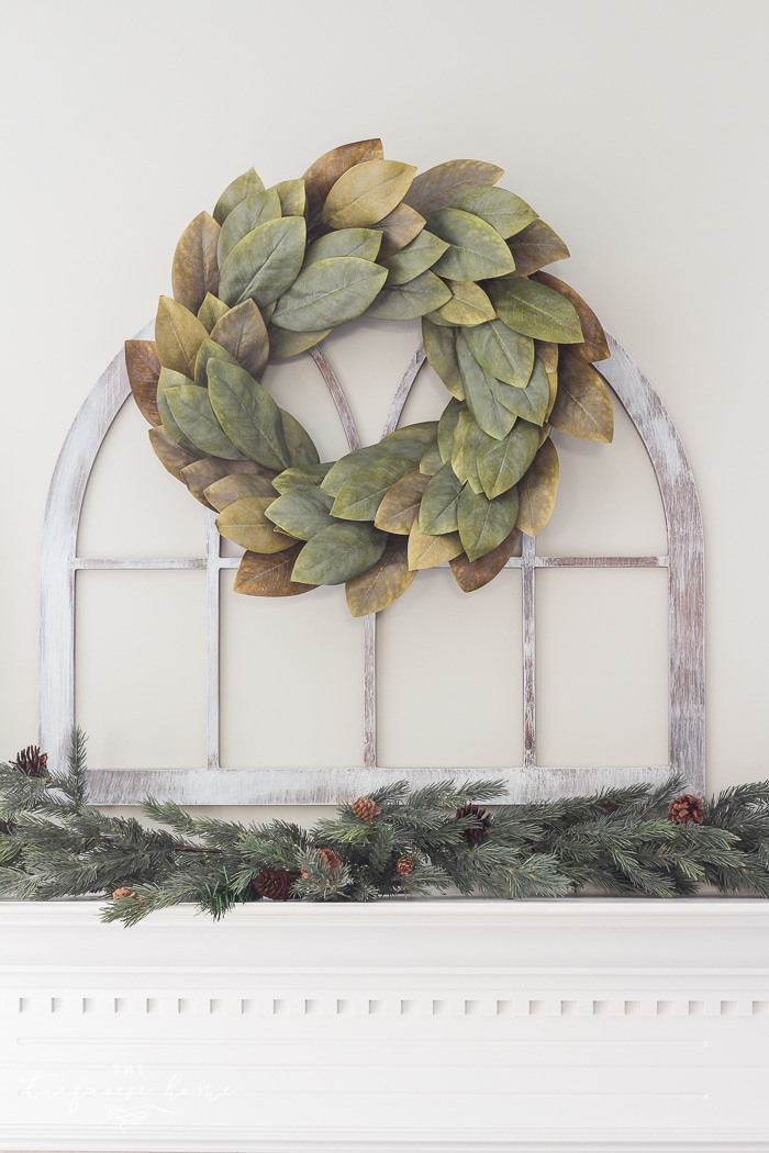 LOVE this look for less! Fixer Upper-style DIY Cathedral Window Frame