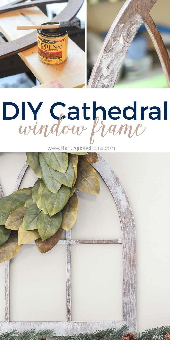 LOVE this look for less! DIY Fixer Upper-style Cathedral Window Frame