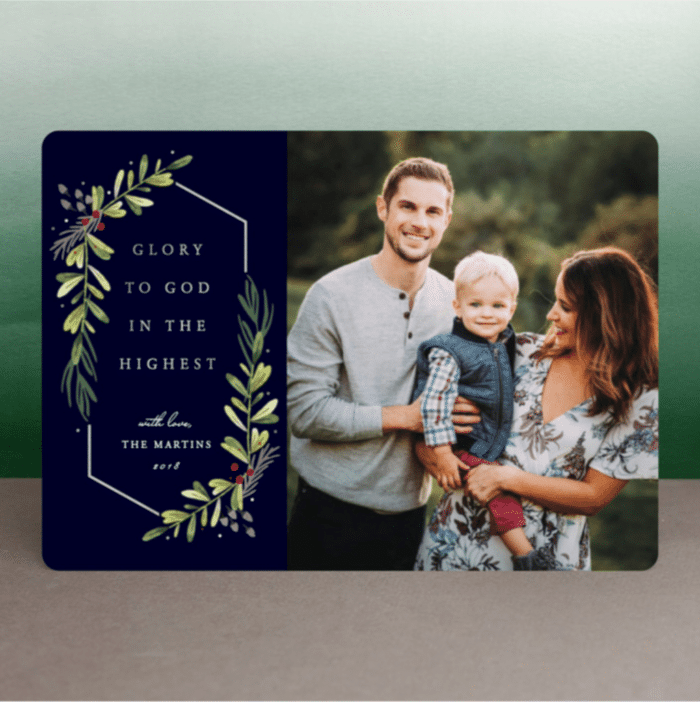 Garden of Glory Minted Christmas Cards