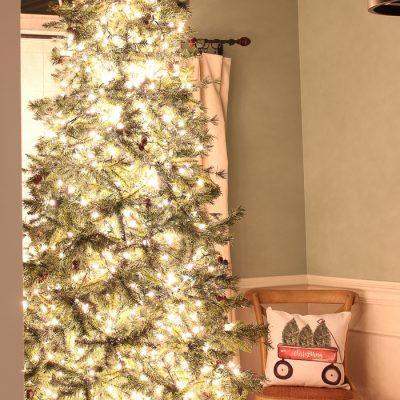 How to Put Lights on a Christmas Tree (so that it glows!)