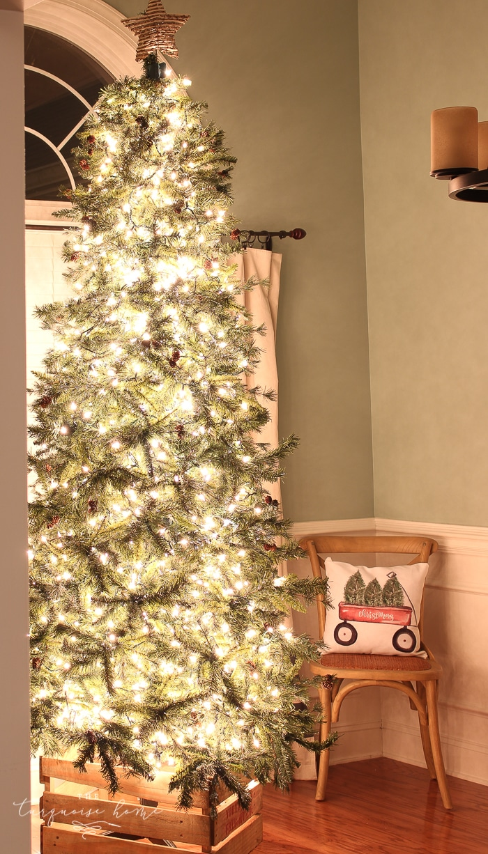 How to Put Lights on a Christmas Tree (so that it glows!) The Turquoise Home