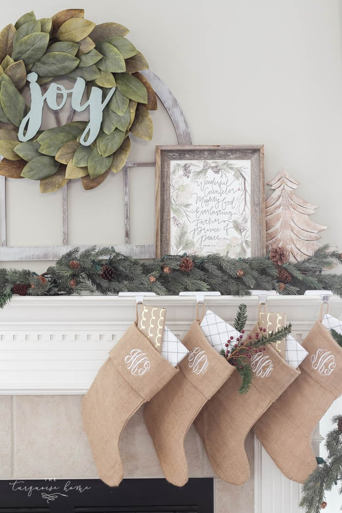pretty magnolia wreath christmas mantel decor brings a rustic feel to the holiday season pops - Christmas Mantel Decor