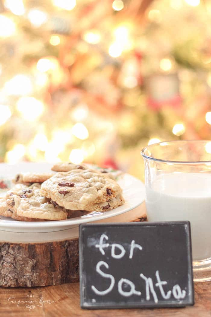 Chocolate Chip Cookie Recipe FREE Printable! Perfect for Santa's midnight snack!