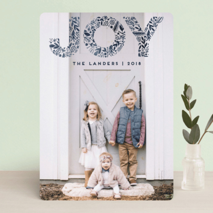 Pattern Joy Minted Christmas Cards